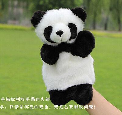 baby plush toy animal hand puppet Q panda pupet telling story birthday gift 1PC