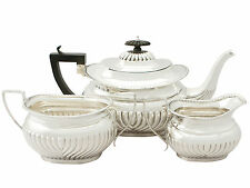 Sterling Silver Three Piece Tea Set - Antique Edwardian