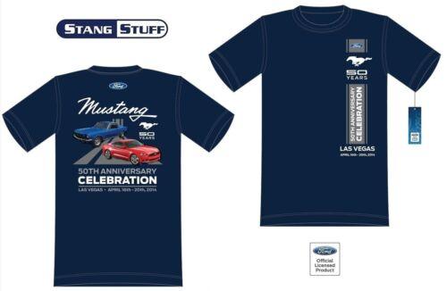 LAS VEGAS Blue Mustang 50th Anniversary  Celebration Official Event T Shirt
