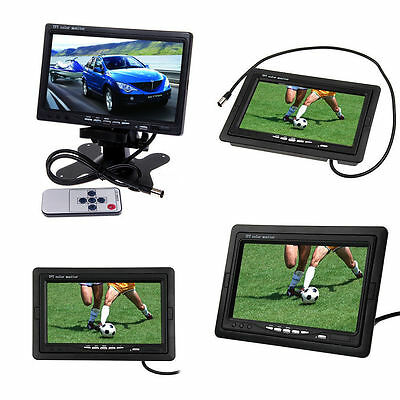 "7"" TFT LCD Color 2-CH Video Input DVD VCR Car Rearview Rear Reverse View Monitor"