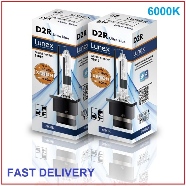 2 x D2R LUNEX XENON LÁMPARAS BOMBILLA compatible con 85126 66050 66250 UB 6000K