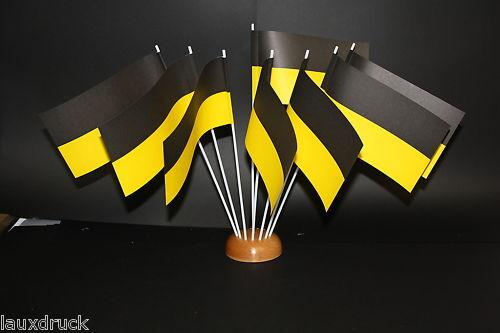 Flagge 50 Papierfähnchen//Papierfahnen schwarz-gelb PFW-05876