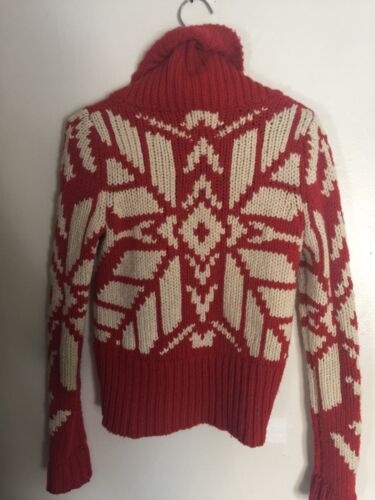 Outfitters Toggle Størrelse Maroon Snowflake American Strik Eagle Cardigan Small New XxUgqES