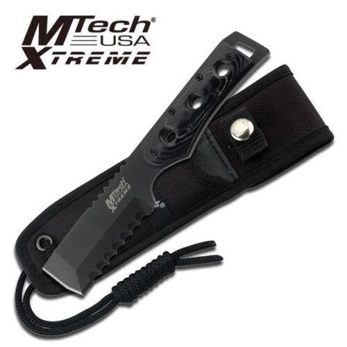 MTech USA XTREME Outdoormesser Schwarz Micarta Griff mit Löchern Öse MX-8088