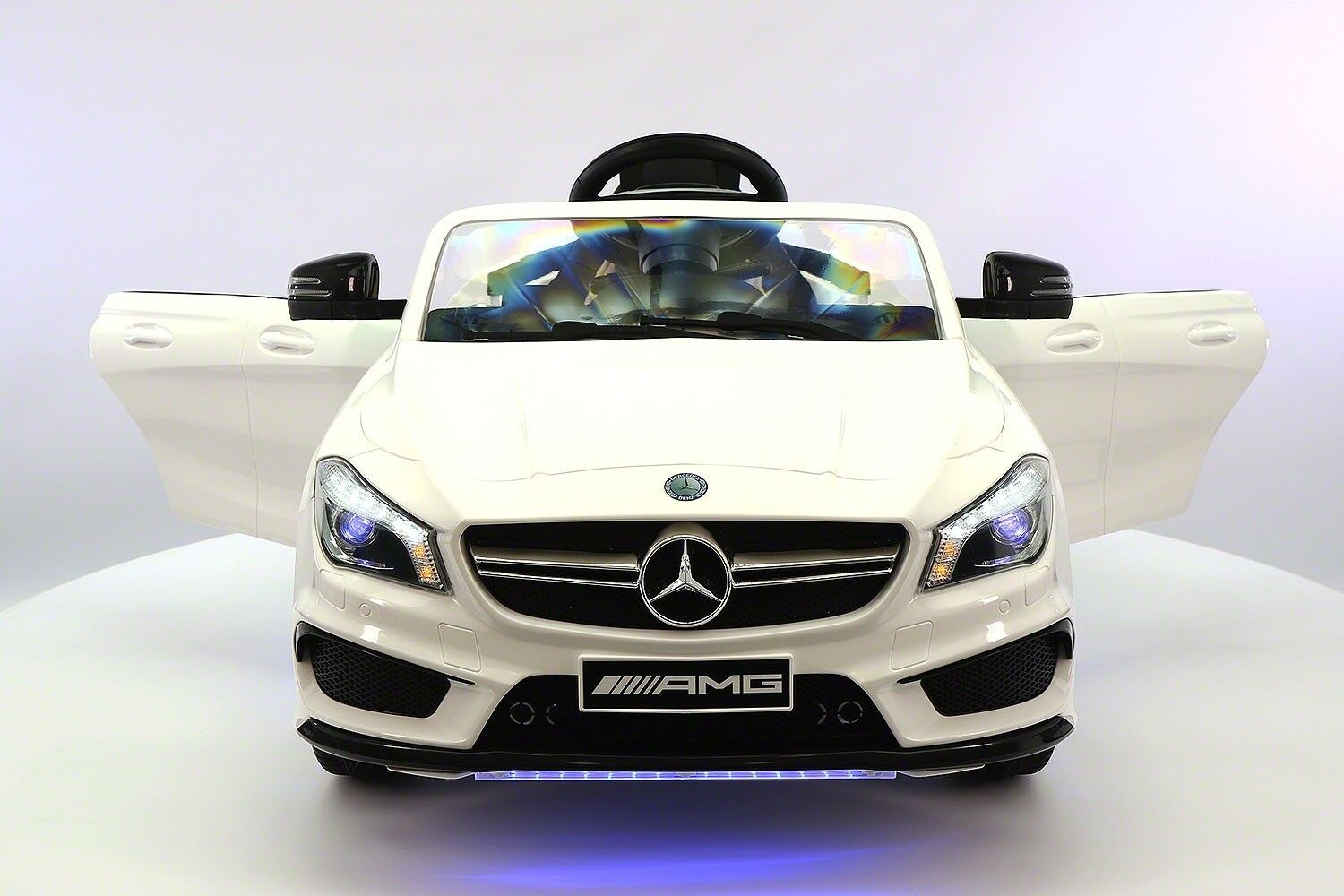 Mercedes CLA45 12V Kids Ride-On Car with R C Parental Remote   White