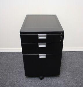 Fully Sidekick File Cabinet Black Ebay