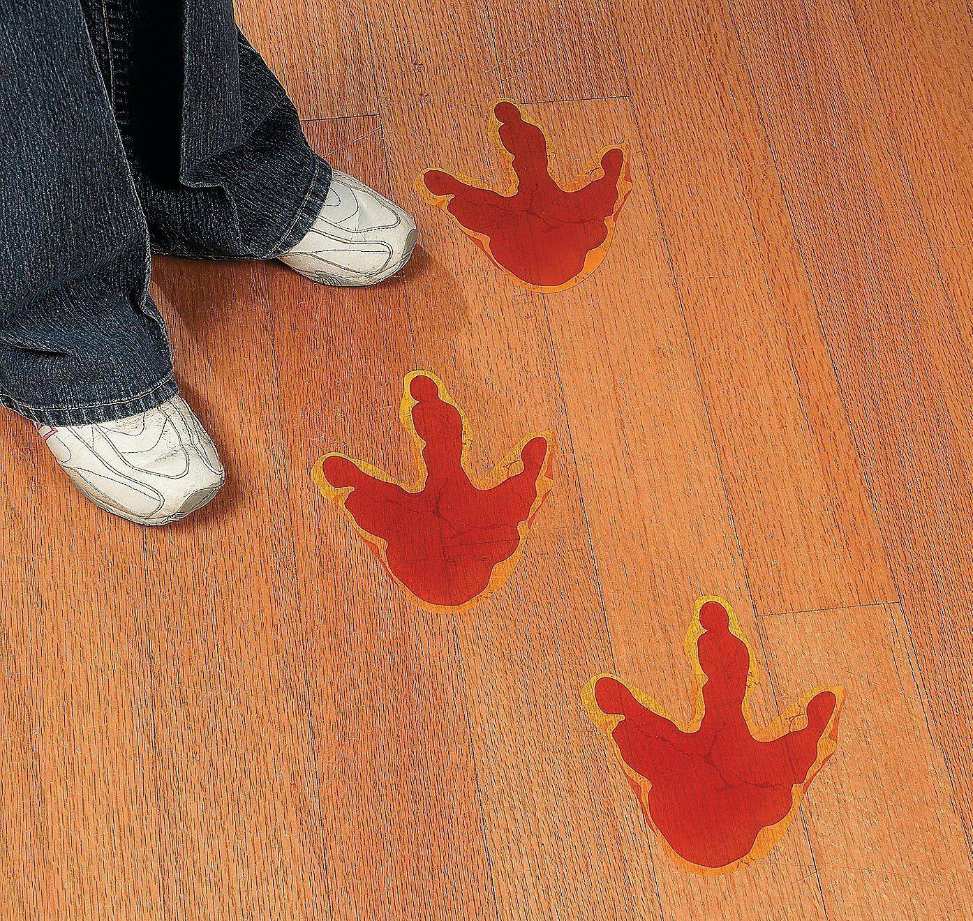 Large Dinosaur Foot Print Floor Decal Clings - 144 Pieces - Fun Express