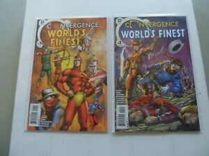 2015-DC-Convergence-WORLD-039-S-FINEST-034-Complete-Set-034-of-2-Comics-1-2-VF-NM-1ST