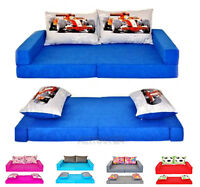 Children's Sofa / Bed From Foam Set 3in1 + 2pillows , 23 Colours