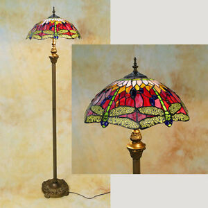Tiffany-Stehlampe-Dragonfly-Libelle-Tiffanylampe-TE07-a