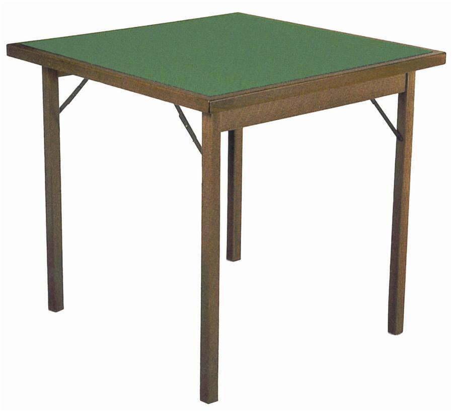 Tavolo da  Gioco Quadrato Pieghevole 90x90 cm in Legno Panno verde Del Fabbro Cl  miglior prezzo