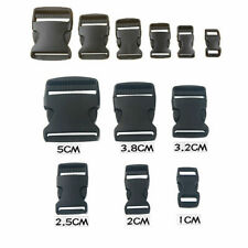 10x 10mm plastic side quick release buckles for webbing bags straps clips black
