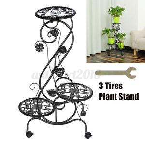 3-Tier-Metal-Plant-Floer-Stand-Display-Shelf-Rack-With-Wheels-Home-Garden
