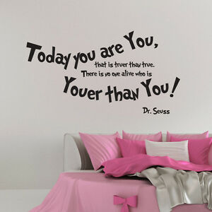 Image Is Loading YOUER THAN YOU DR SEUSS WALL ART STICKERS
