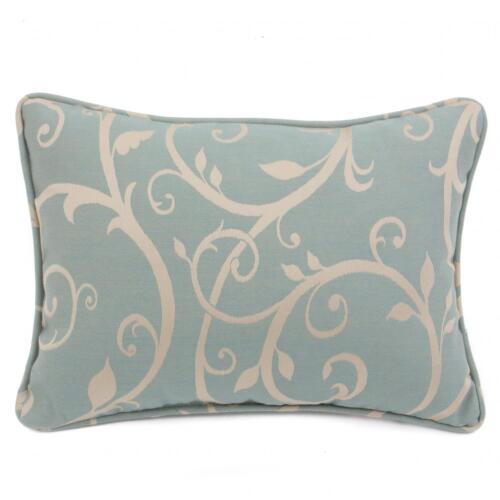 Sunbrella Brannon Cabaret Blue Haze Throw Pillow W// Piping 13 X 18