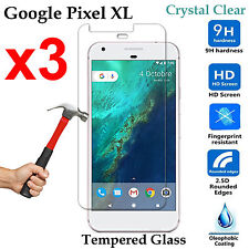 x3 Premium Tempered Glass 9H phone screen protector Google Pixel XL Front