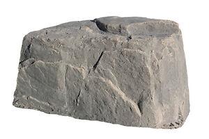 Dekorra fake rock 117fs cable box utility fake rock for Landscape rock utility cover