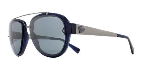 Versace VE4327 Occhiali da sole blu 106//6G 57mm NERO GRIGIO SPECCHIO