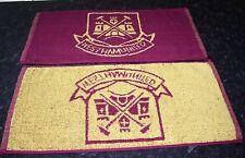 WEST HAM UNITED Bar Towel 100% cotton Hammers & Boleyn crest FREE POSTAGE UK