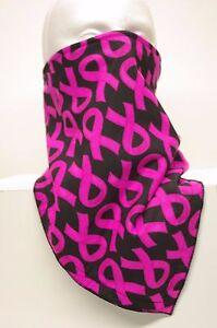 Lightweight Backing Black Pink Breast Cancer Ski Mask Fierce Face