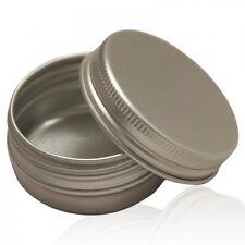 10 x 100ml alluminio Jar Tin VASI CONTENITORI CON COPERCHI a vite