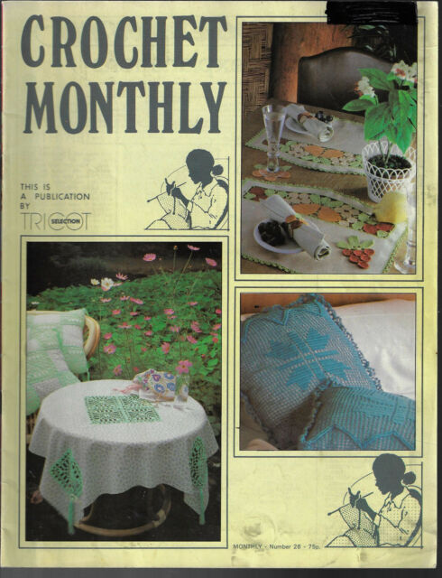 Crochet Monthly magazine # 26 doily table mat cloth Tricot