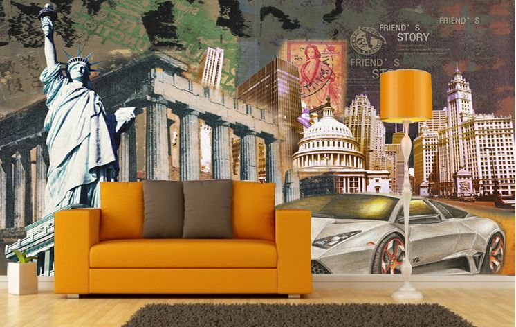 3D Europe's Old Building Paper Print Wall Decal Wall Deco Indoor Wall Murals