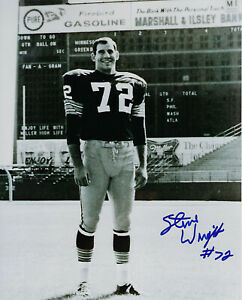 1960-039-s-PACKERS-Steve-Wright-signed-8x10-photo-w-72-AUTO-Autographed-Green-Bay