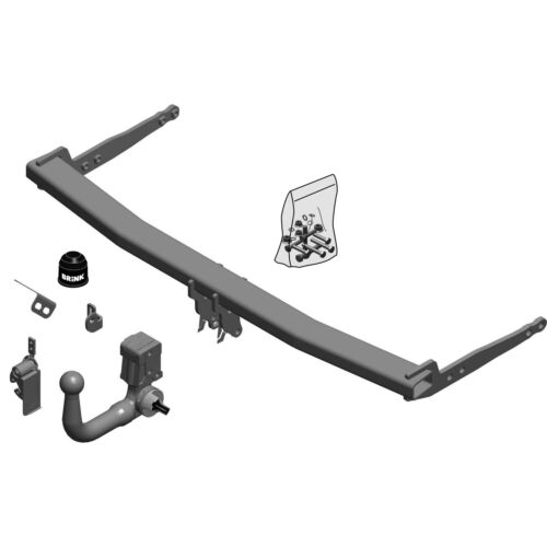 Brink Towbar for Skoda Octavia Estate 2012 On - Vertical Detachable Tow Bar
