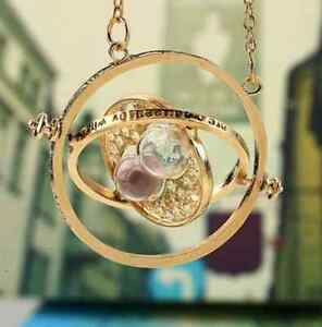 Harry-Potter-Hermione-Granger-Rotating-Time-Turner-Necklace-Gold-Hourglass-Hot