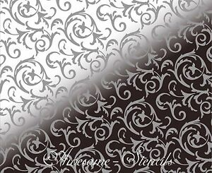 Details About Large Fl Stencils Clic Pattern For Wall Painting Crafting
