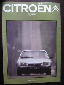 Brochure Catalogue 6 Pages 1981 Citroen Berlines Cx Diesel Dans La Douleur