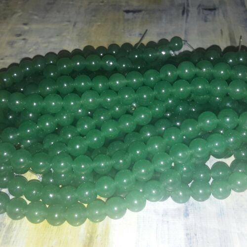 Free postage Natural Jade 8mm Medium Sea Green  48pce Strand Oz Seller