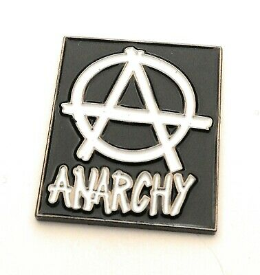 ANARCHY Pin Badge Punk Revolt Anarchy Enamel Pin ANARCHY