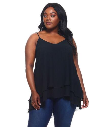Womens Black Layered Top BZBZ Plus Size 5X