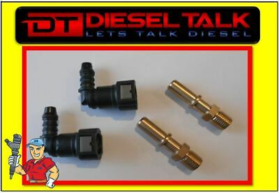 10mm Quick release 4 x 90° Quick Fit Fuel Line Fittings Kit 9.89mm Fuel Manager