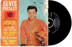 ELVIS-PRESLEY-LOVE-IN-LAS-VEGAS-EP-7-034-45-VINYL-RECORD-PIC-SLV-1964