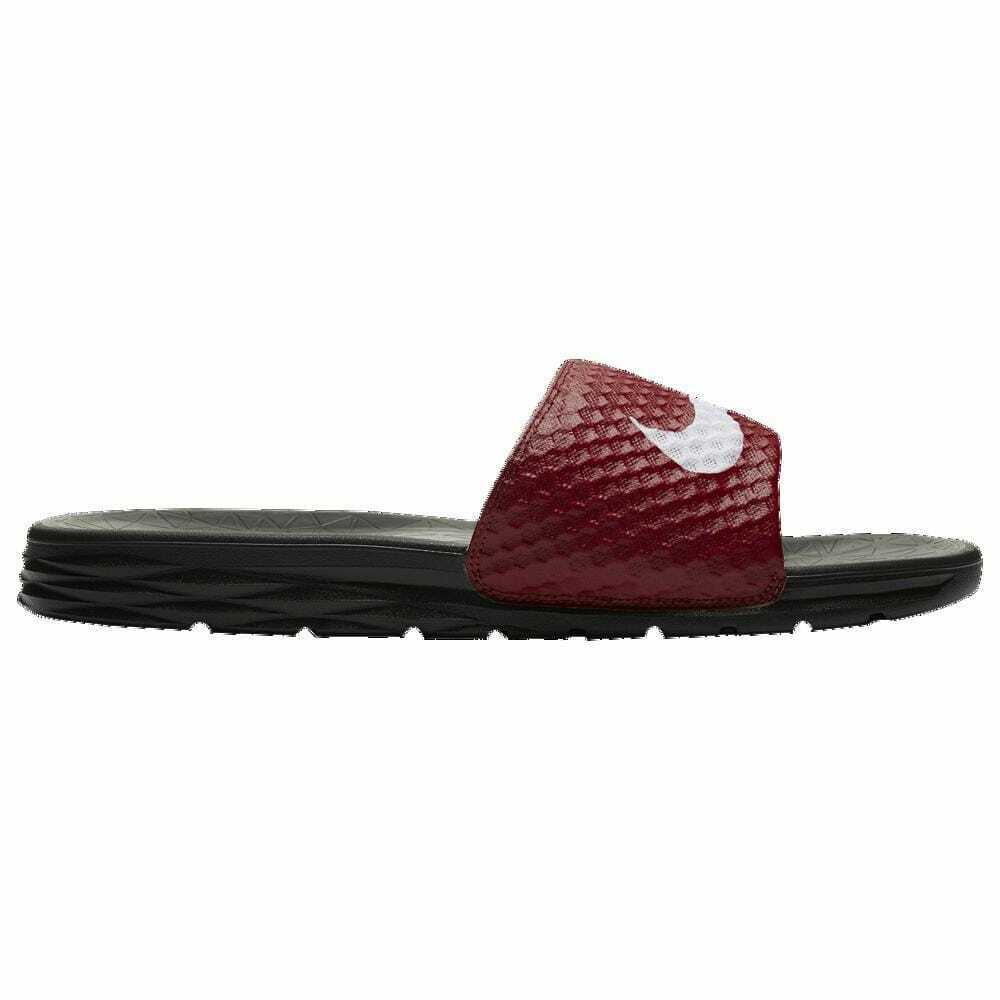 Nike Benassi Solarsoft Slide 2 Team Red White Black Men's 05474602