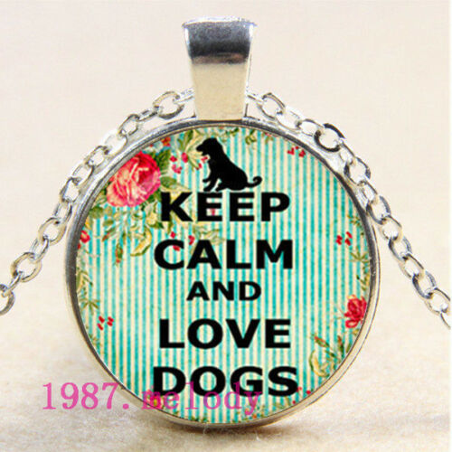 Cabochon Verre Collier Silver Charm pendentif Bijoux ( love dos ) #122