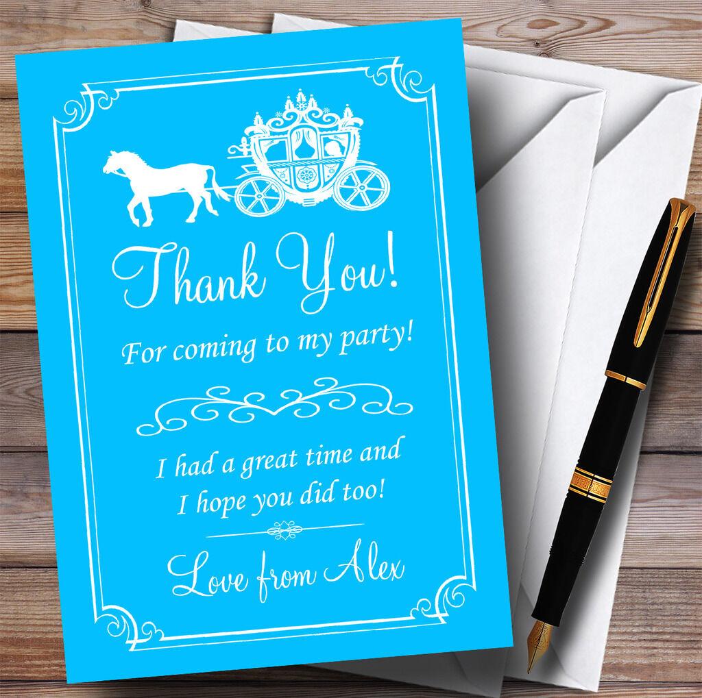 azul caballo Carruaje Princesa De Fiesta Tarjetas de Agradecimiento