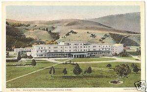 Original Vintage Haynes Photo #153 PC- Yellowstone- Mammoth Hotel- Hot Springs