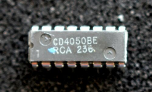 Pk of 3 RCA CD4050BE CMOS Non-inverting Hex Buffer DIL16