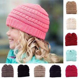 New Baby Kids Boy Girl Children Winter Warm Knitted Crochet Beanie Hat Skull Cap