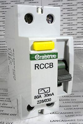 Crabtree RCCB 80A 30mA 228/030