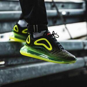 Détails sur Nike Air Max 720 Neon NoirVolt De Sport Hommes AO2924 008 uk 9, EUR 44, US 10 afficher le titre d'origine