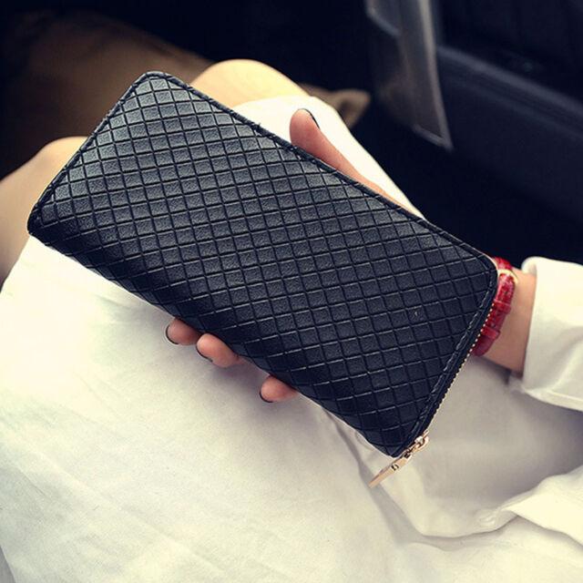 New Women Lady  PU Leather Clutch Wallet Long Card Holder Case Purse Handbag