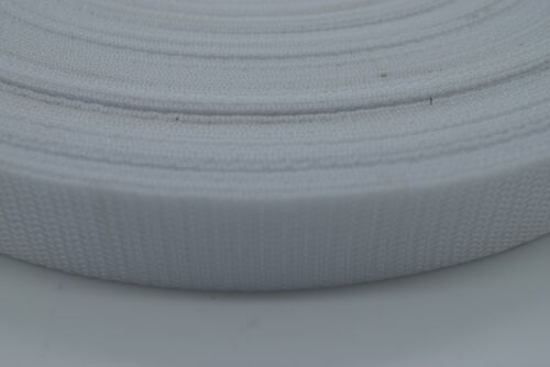 50m Polypropylene Webbing Strap Tape 15,20,25,30,40,50mm Choice of Colours