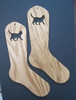 Lucy The Cat Oak Sock Blockers By Purrfectly Catchy Designs
