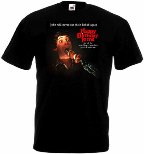 Happy Birthday To Me ver.2 T-shirt black Movie Poster all sizes S...5XL