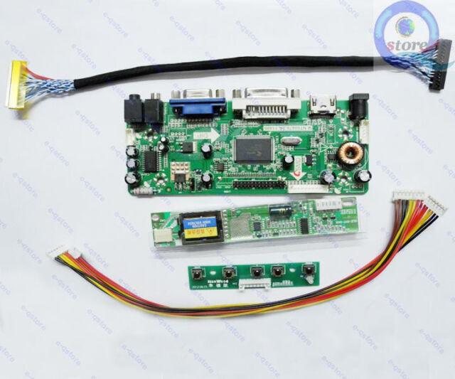 LCD Lvds Driver Inverter Controller Kit for LQ164M1LD4C D HDMI+DVI+VGA+Audio